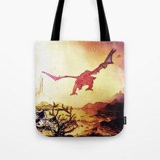 dragon attack Tote Bag