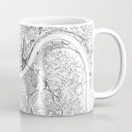 Cincinnati White Map Coffee Mug