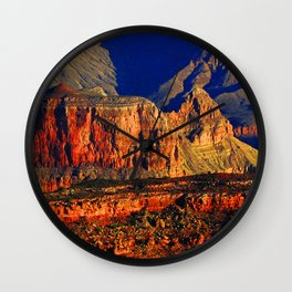 Picture Grand Canyon Park USA Arizona Cliff Nature canyons Mountains Parks Sunrises and sunsets Rock Crag Canyon mountain park sunrise and sunset Wall Clock