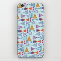 mid century modern iPhone & iPod Skins featuring Geometric Mid Century Modern Triangles 2 by Ryan Deighton
