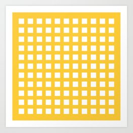 Thick Aspen gold yellow grid pattern Art Print