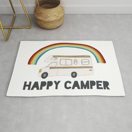HAPPY CAMPER RAINBOW RV Rug