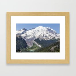 Mount Rainier on the Sunrise Side Framed Art Print