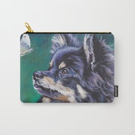 German Spitz or Pomeranian dog portrait painting by L.A.Shepard fine art Carry-All Pouch