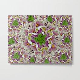 Abstract Digitalis Purpurea Flowers Metal Print