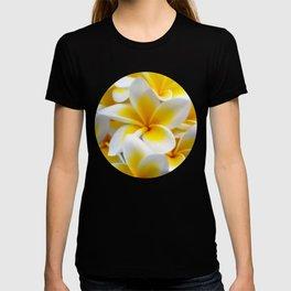 Frangipani halo of flowers T-shirt