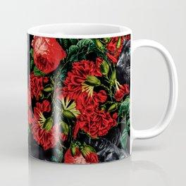 Panther and Floral Pattern XO Coffee Mug