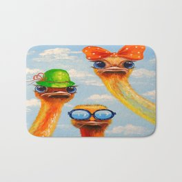 Ostriches friends Bath Mat