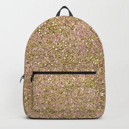 Blush Pink & Gold Glam Glitter Sparkle Backpack