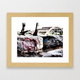 Love on My Rock  Framed Art Print