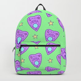 Planchette Pattern on Green Backpack