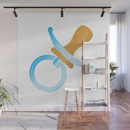 Babies Blue Pacifier Wall Mural