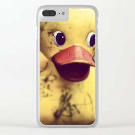 Yellow Rubber Ducky Covered in Dirt! Clear iPhone Case