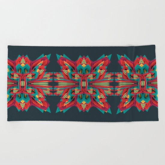 Summer Calaabachti Heart Beach Towel