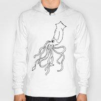 squid Hoodies featuring Squid by Travelers Checks