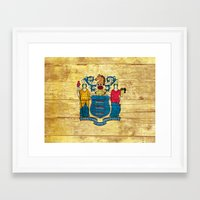 new jersey Framed Art Prints featuring New Jersey by C Liza B