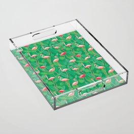 Flamingoes! Acrylic Tray