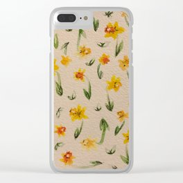 Daffodils Clear iPhone Case