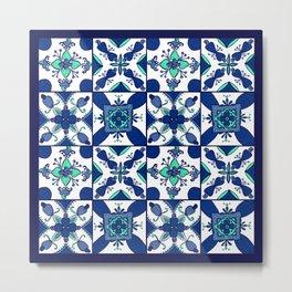 Cashew Apple Tiles Metal Print