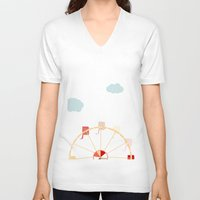 ferris wheel V-neck T-shirts featuring Ferris Wheel by 0720mandy