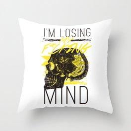 F*ucking Mind Throw Pillow