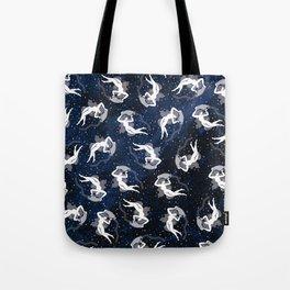 Aquarius Water Bearing Cosmic Woman Tote Bag