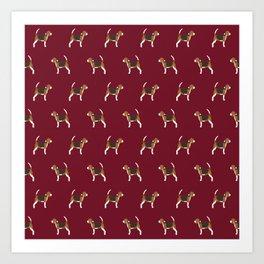 Beagle pattern beagle design cute beagle pillow beagle gifts beagle phone case Art Print