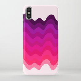 Retro Ripple in Pinks iPhone Case