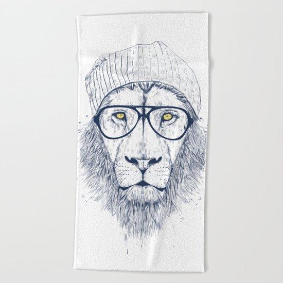 Cool lion Beach Towel