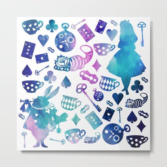 Alice in Wonderland - Galaxy W Metal Print