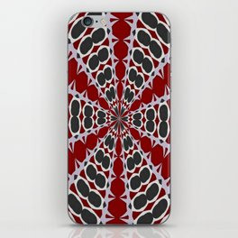 Red Black White Pattern iPhone Skin