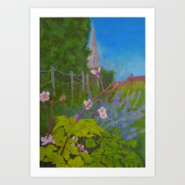 Chichester Bishops Palace Gardens Art Print