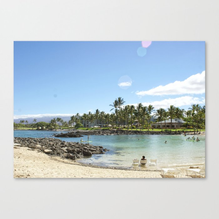Just Beachy. How Are You? Canvas Print
