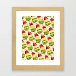 Popsicle Pattern - TropiPop Framed Art Print