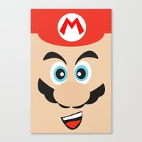 mario bros Canvas Prints featuring Super Mario Bros NES by JAGraphic