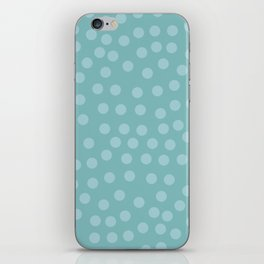 Self-love dots - Turquoise iPhone Skin