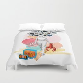 Kodachrome Beach Duvet Cover