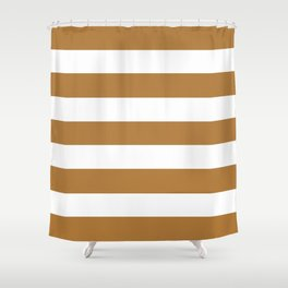 Durian - solid color - white stripes pattern Shower Curtain