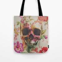skull Tote Bags featuring Skull by Andreas Lie