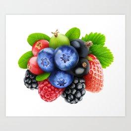 Bunch of berries Art Print