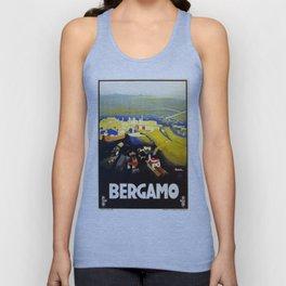 1920s Bergamo Italy travel Unisex Tank Top