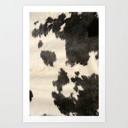 Black & White Cow Hide Art Print
