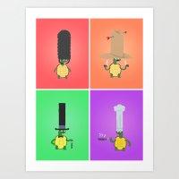 turtles Art Prints featuring Turtles! by Wackom