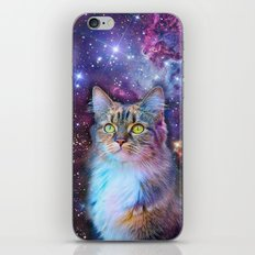 Proud Cat With Space Background                                                                   iPhone & iPod Skin
