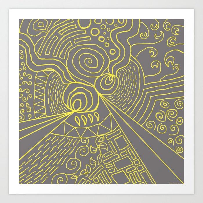 """Crazy World"" Art Print"