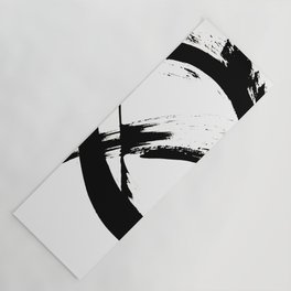 Brushstroke 7: a minimal, abstract, black and white piece Yoga Mat