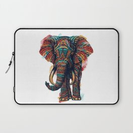 Ornate Elephant (Watercolor) Laptop Sleeve