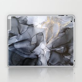 Calm but Dramatic Light Monochromatic Black & Grey Abstract Laptop & iPad Skin