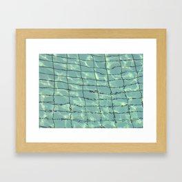 Water pattern Framed Art Print