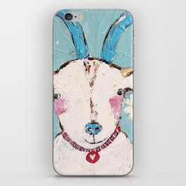 goat painting iPhone Skin